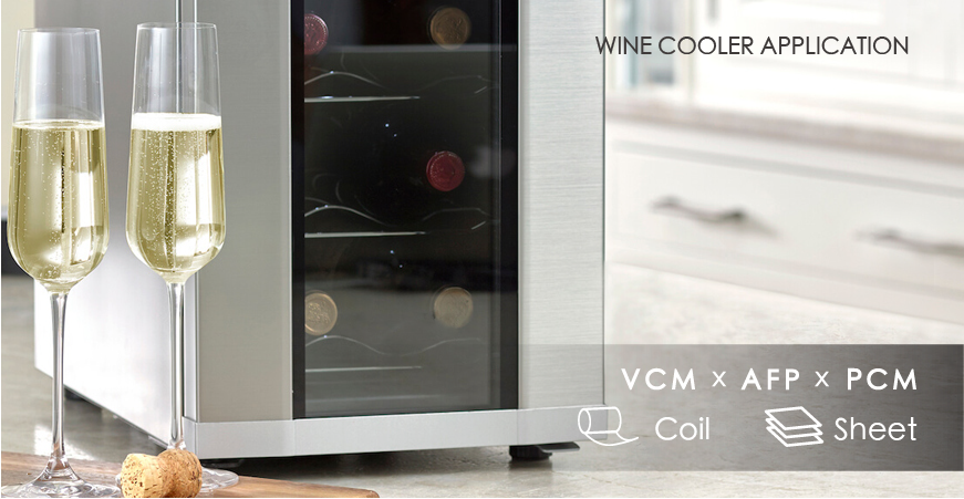Wine Cooler Panel Application