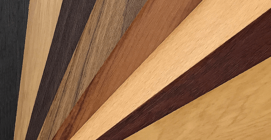Wood Grain PVC Film Laminated Metal