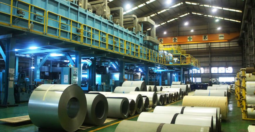 Roll to Roll pre-coated process production