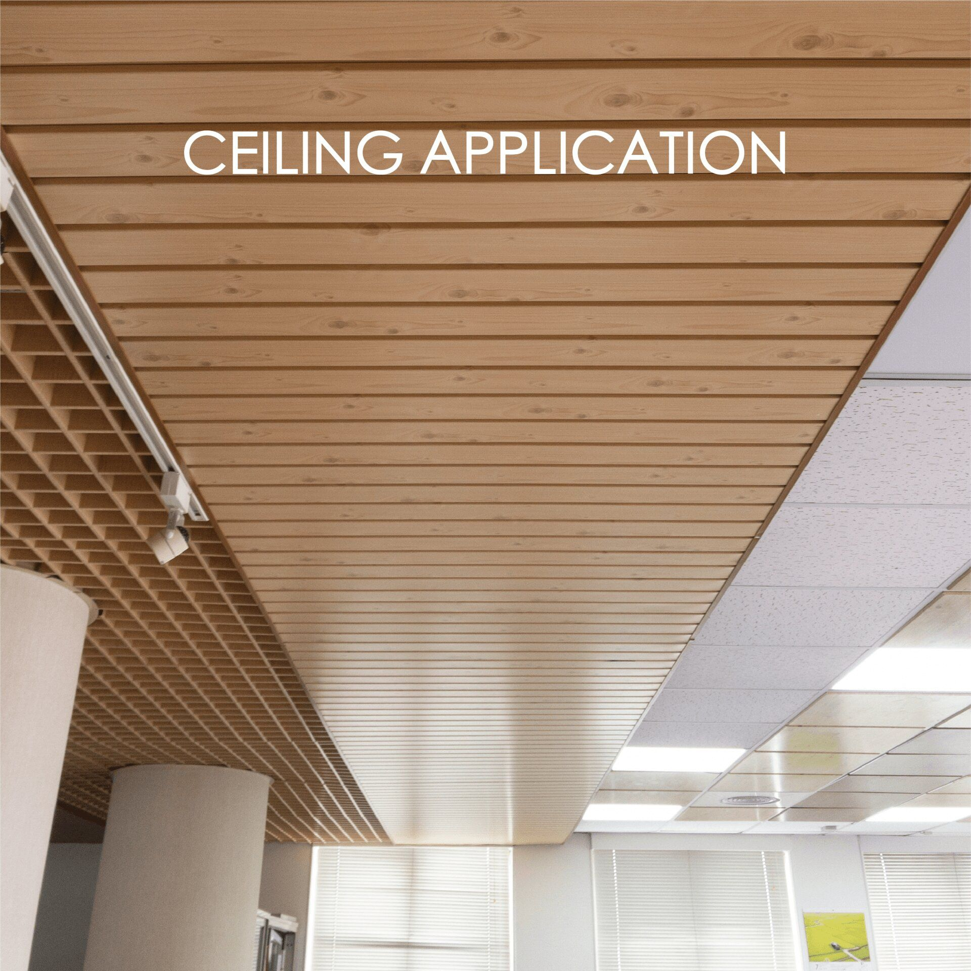 Using laminated metal to make ceilings adds decorative and durability
