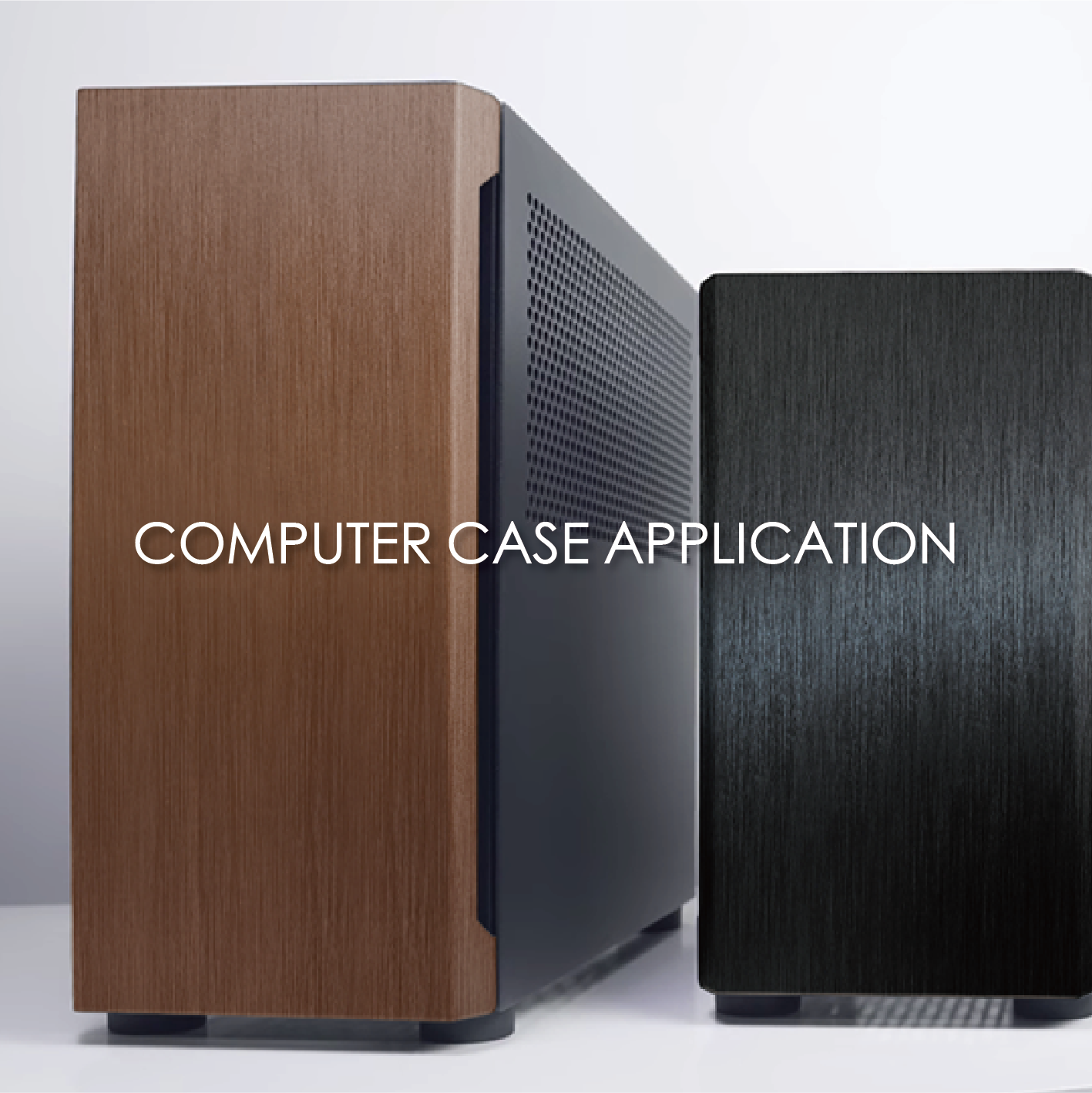 3D texture coated metal decorative computer case can increase the appearance and fashion sense