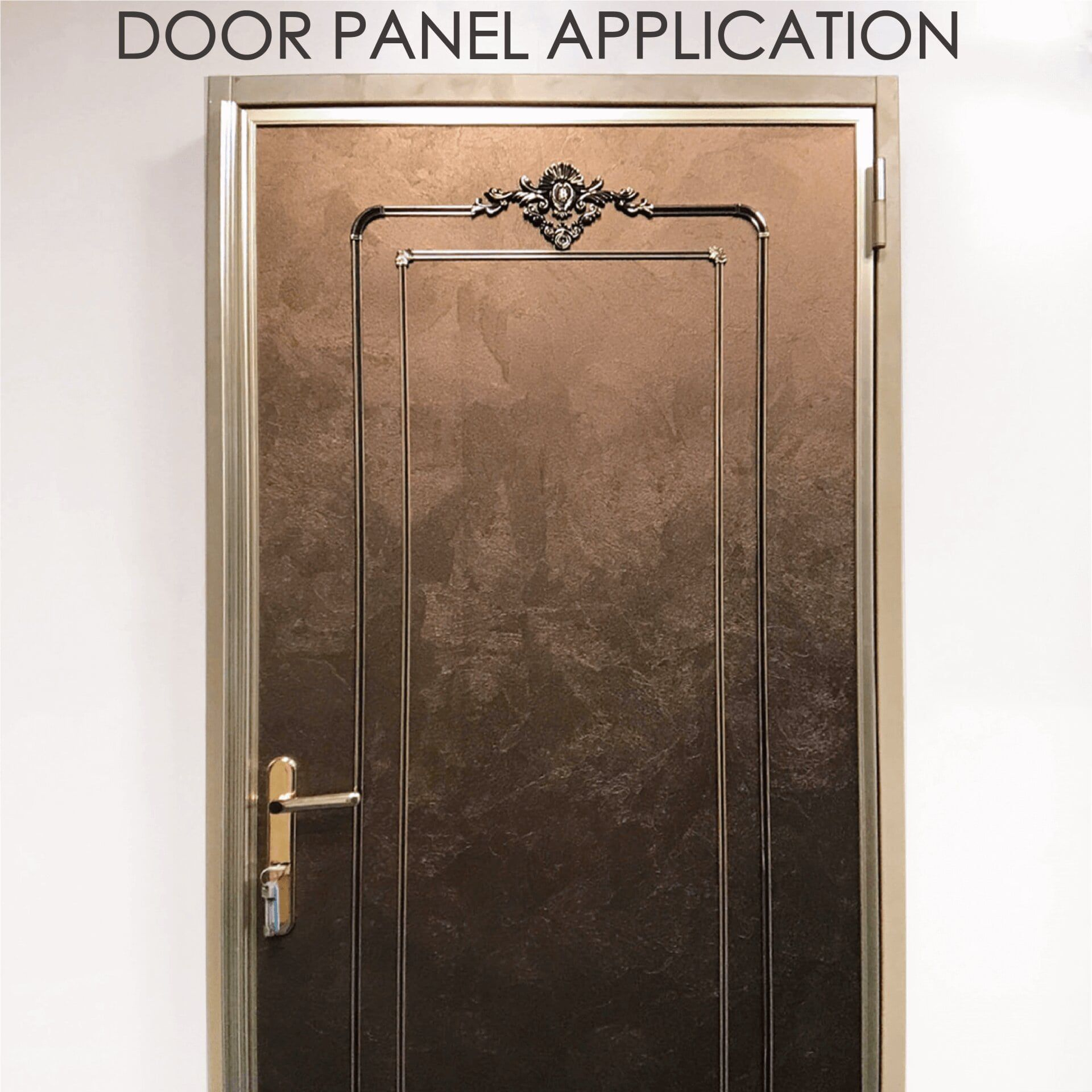Replacing wooden door with laminated metal can increase safety and durability