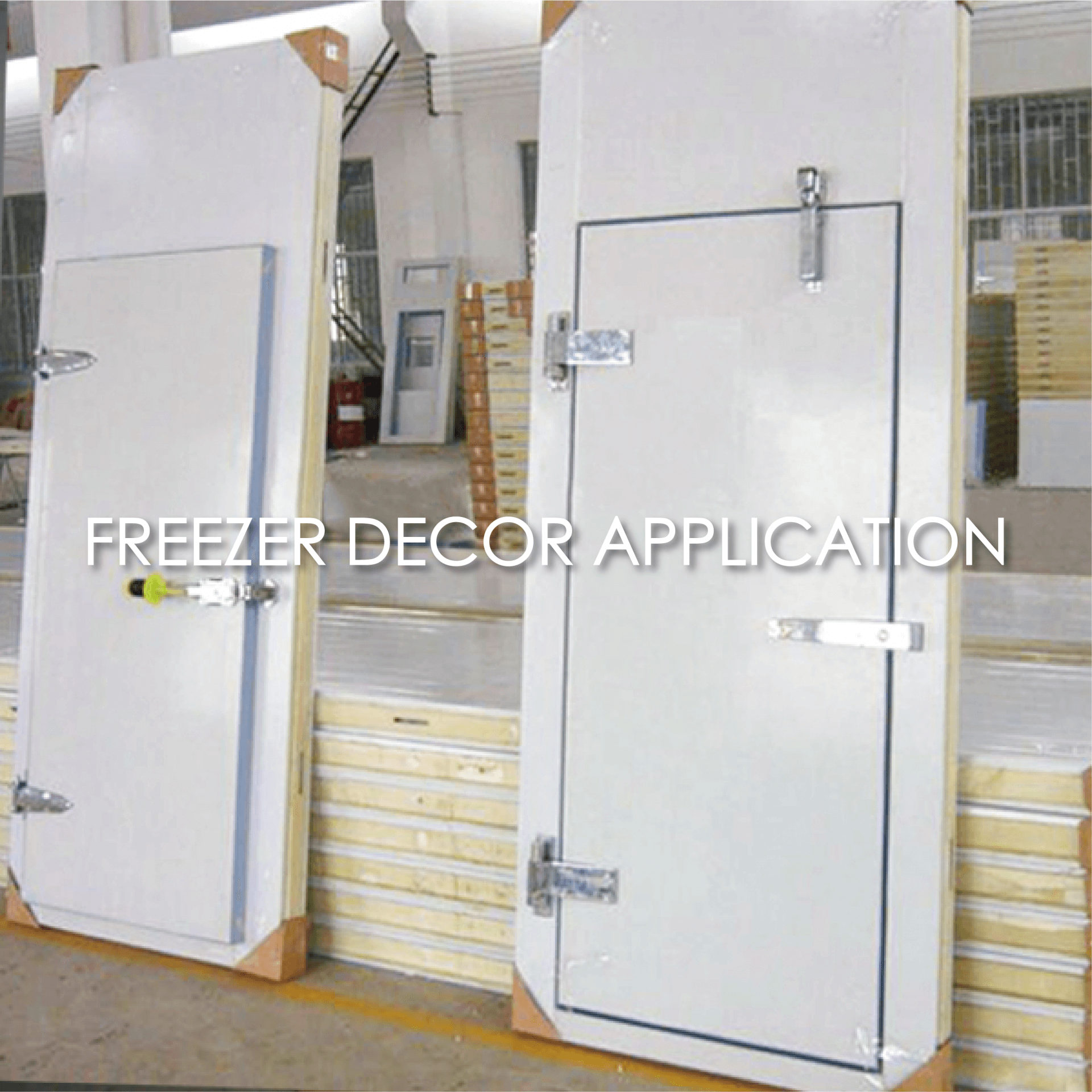 The use of coated metal to make a freezer plate can increase the aesthetics and durability.