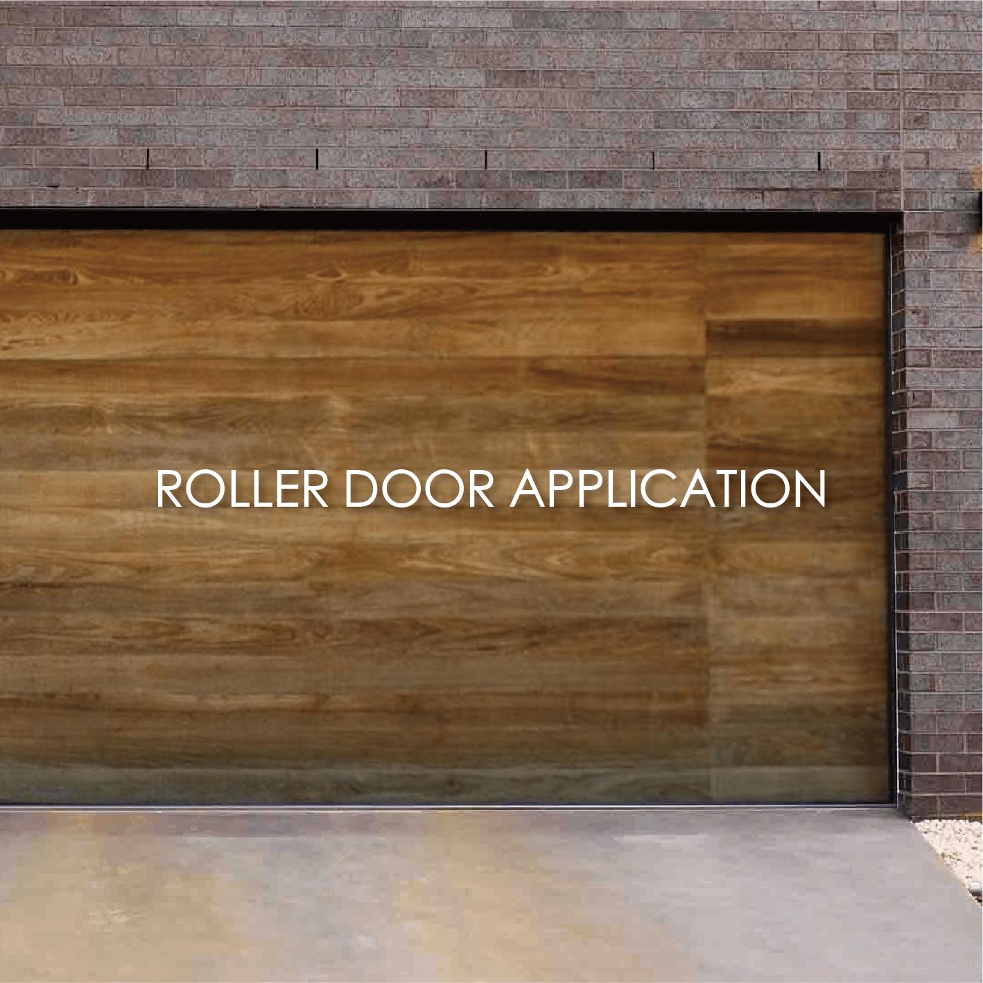 Wood grain coated metal decorative garage roll door can increase aesthetics and durability
