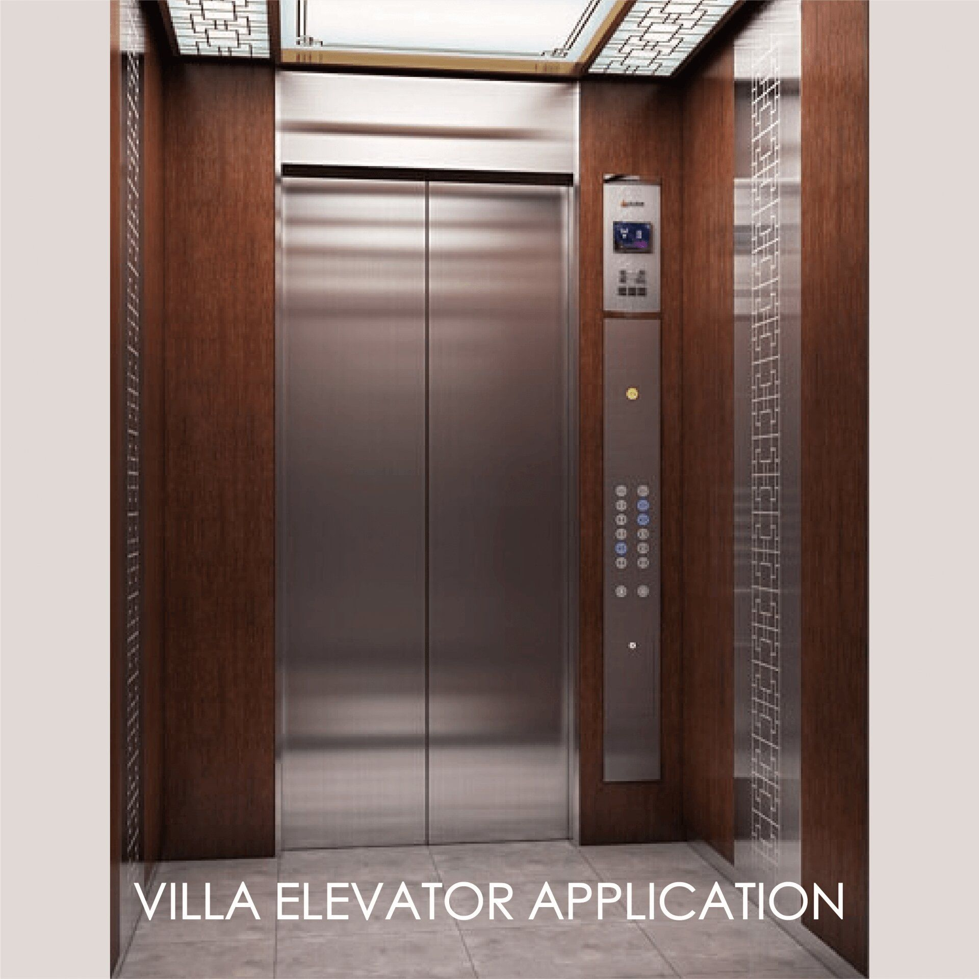 Using laminated metal to decorate the elevator door panel can create the aesthetics and durability