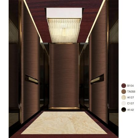 Laminated steel product for building material - Elevator