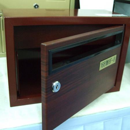 Wood Grain PVC Pre-coated Metal  - Red Cherrywood (Red Cherrywood PVC Film Laminated Metal mail box)