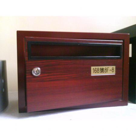 Wood Grain PVC Pre-coated Metal  - Red Cherrywood (Red Cherrywood PVC Film Laminated Metal post box)