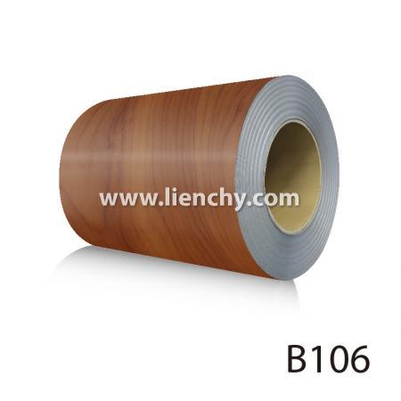 Wood Grain PVC Pre-coated Metal -Yew (coils)