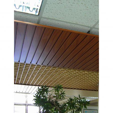 Wood Grain PVC Pre-coated Metal -Yew (Yew Wood Grain PVC pre coated metal fireproof ceiling grille)