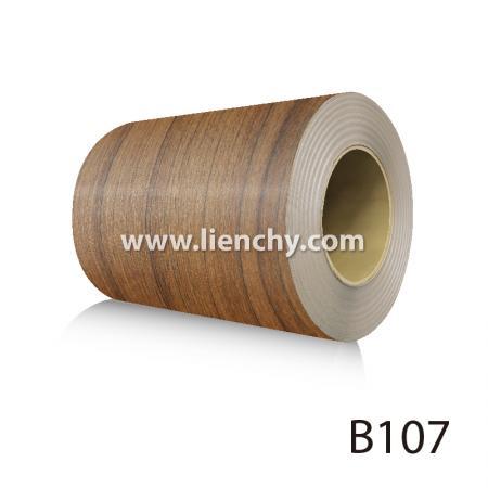Wood Grain PVC Pre-coated Metal -Dark Teak (coils)