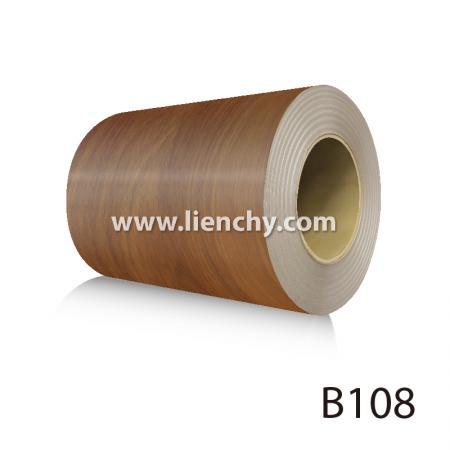 Wood Grain PVC Pre-coated Metal -Walnut (coils)