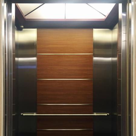 Wood Grain PVC Pre-coated Metal -Walnut (Walnut Wood Grain PVC Pre-painted steel elevator cab door sheet)