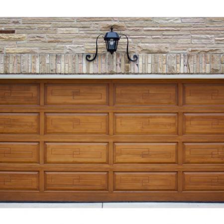 Wood Grain PVC Pre-coated Metal -Walnut (Walnut Wood Grain PVC Pre-painted steel garage roller shutter)