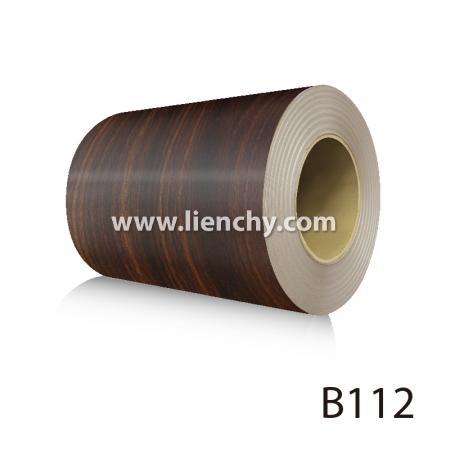 Wood Grain PVC Pre-coated Metal -Brown Walnut (coils)