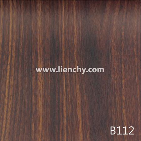 Wood Grain PVC Pre-coated Metal -Brown Walnut (films)