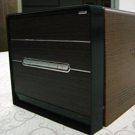 Wood Grain PVC Pre-coated Metal -Brown Walnut (Brown Walnut Wood Grain PVC laminted metal 3C computer case)