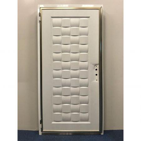 Wood Grain PVC Pre-coated Metal -White Oak (White Oak Wood Grain PVC vinyl coated metal door sheet)