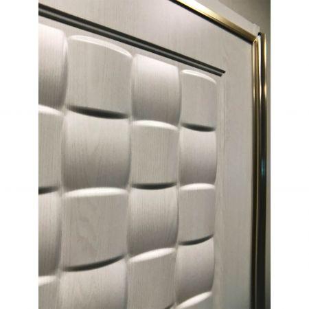 Wood Grain PVC Pre-coated Metal -White Oak (White Oak Wood Grain PVC vinyl coated metal door panel)