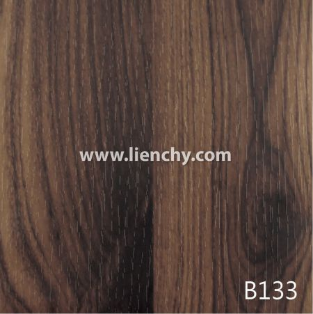 Wood Grain PVC Pre-coated Metal -Mocha Cherrywood (films)