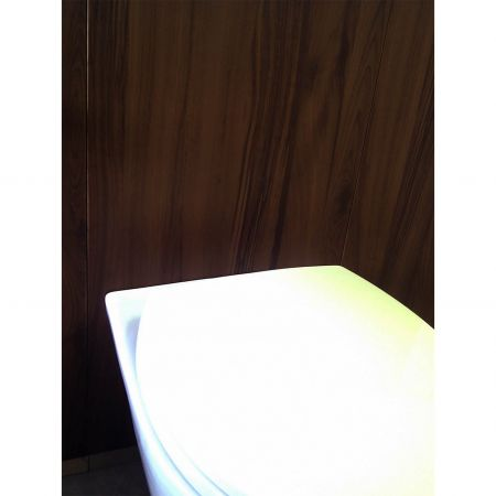 Wood Grain PVC Pre-coated Metal -Mocha Cherrywood (Mocha Cherrywood Wood Grain PVC Vinyl coated metal bathroom wall panel)