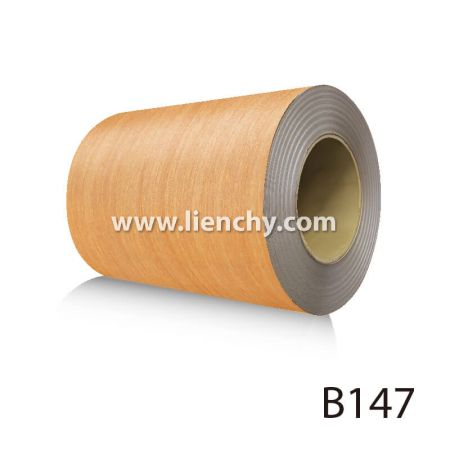 Wood Grain PVC Pre-coated Metal -Golden Oak (coils)