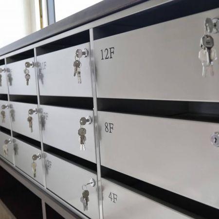 AFP-SUS Finish-Matte (Anti-fingerprint stainless steel building mailbox)