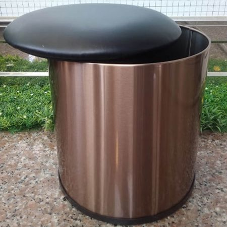 AFP-SUS Finish-Rose Gold (Anti fingerprint stainless steel trash can)