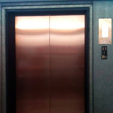 AFP-SUS Finish-Rose Gold (Anti fingerprint stainless steel passenger elevator door panel)
