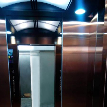 AFP-SUS Finish-Rose Gold (Anti fingerprint stainless steel passenger elevator wall panel)