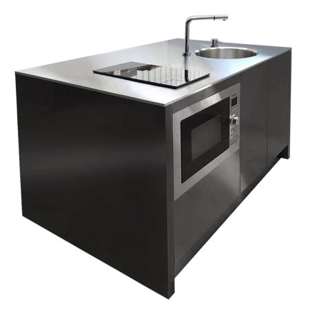 AFP-SUS Finish-Black (Anti fingerprint stainless steel kitchen counter)