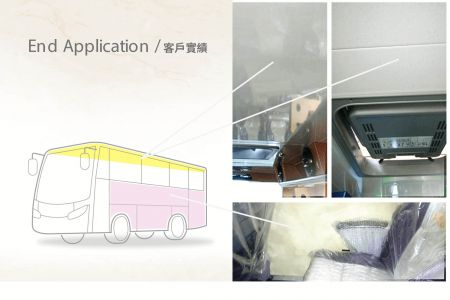 Steel blank of sides in tourist bus-laminated metal application(car building)
