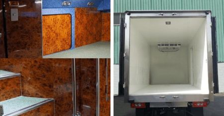 Vehicle Interior - Using laminated metal to decorate the elevator door panel can create the aesthetics and durability
