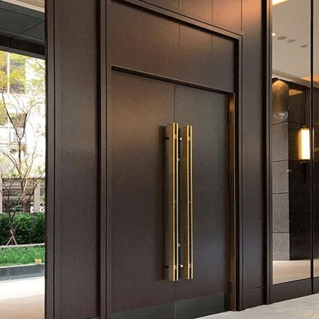 Laminated steel product for building material - wood grain PVC door panel