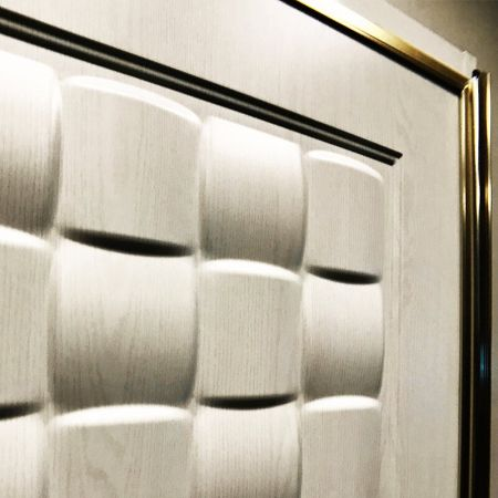Laminated steel product for building material - texture PVC door panel