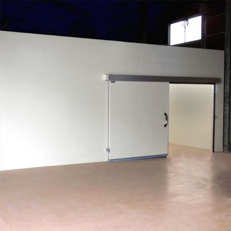 Laminated steel product for building material - freezer partition panel