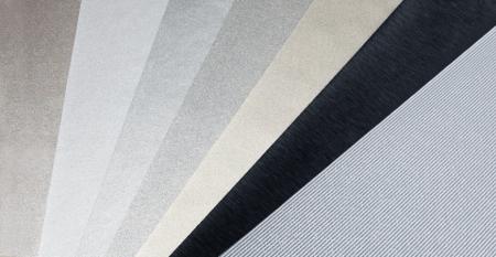 Serie de películas metálicas de PVC - Textura metálica Película de PVC Laminado Metal