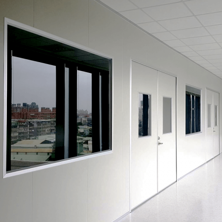 Laminated steel product for building material - clean room sandwich panel