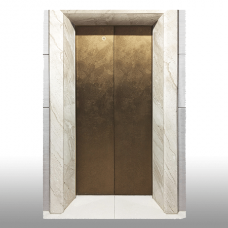 Laminated steel product for building material - villa elevator