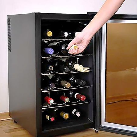 Laminated steel product for building material - wine cooler panel