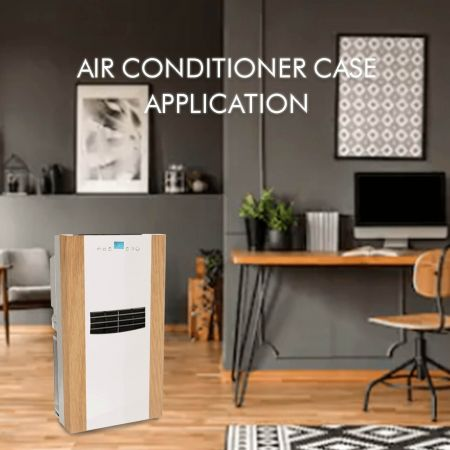 Air Conditioner Case - Laminated metal and anti-fingerprint stainless steel increase the appearance and fashion sense