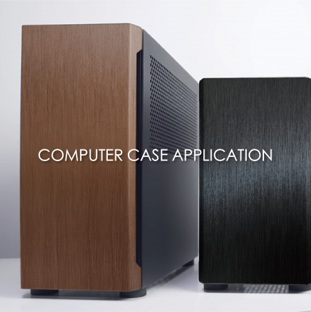 Computer Case - 3D texture coated metal decorative computer case can increase the appearance and fashion sense