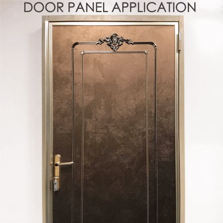 Door Panel - Replacing wooden door panels with wood-coated metal can increase decorative and durability