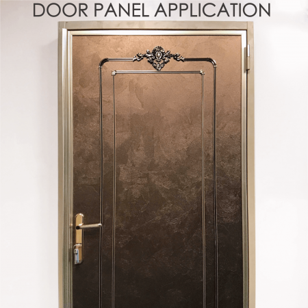 Door Panel - Replacing wooden door panels with wood-coated metal can increase decorative and durability