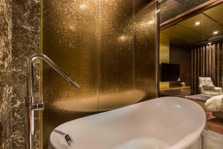 (Ti-coated sus Application- Bathroom decoration panel)
