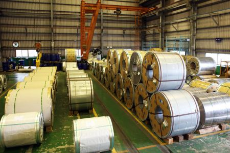 Lienchy Laminated Metal-Steel Roll Raw Material Stock Area