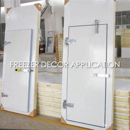 Freezer Décor Panel - The use of coated metal to make a freezer plate can increase the aesthetics and durability.