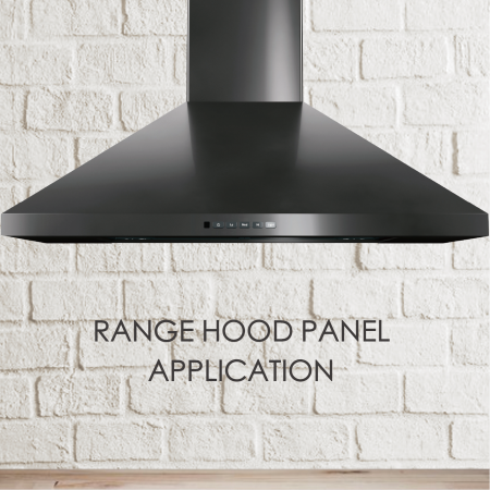Range Hood Panel - The use of anti-fingerprint stainless steel to make the range hood can increase the aesthetics and easy maintenance