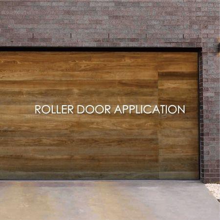 Garage Door - Using laminated metal decorative roll door can create aesthetics and durability