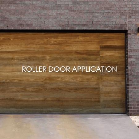 Roller Door - Wood grain coated metal decorative garage roll door can increase aesthetics and durability